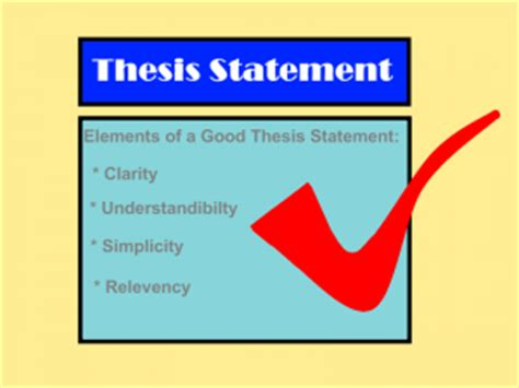 Part composition thesis statement usually found